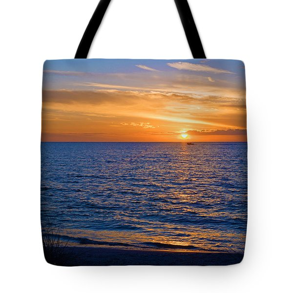 A Beautiful Sunset In Naples, Fl Tote Bag
