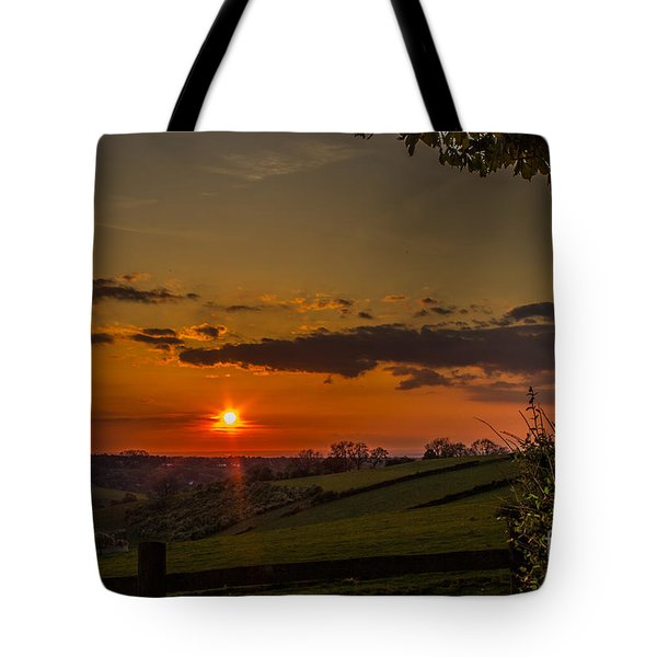 A Beautiful Sunset Over The Surrey Hills Tote Bag