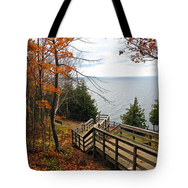 Tote Bag featuring the photograph A Beautiful Walk by Greta Larson Photography