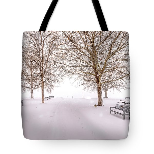 Tote Bag featuring the photograph A Beautiful Winter's Morning  by John Poon