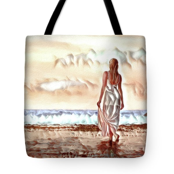 Tote Bag featuring the digital art A Beautiful World by Pennie McCracken