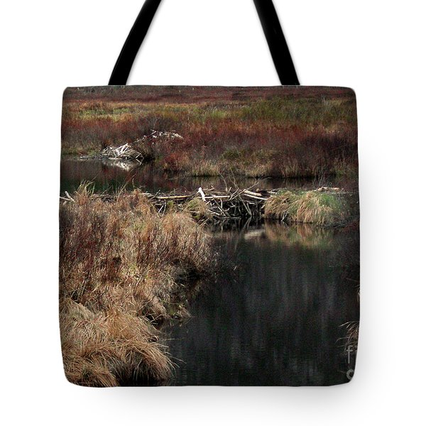 A Beaver's Work Tote Bag by Skip Willits