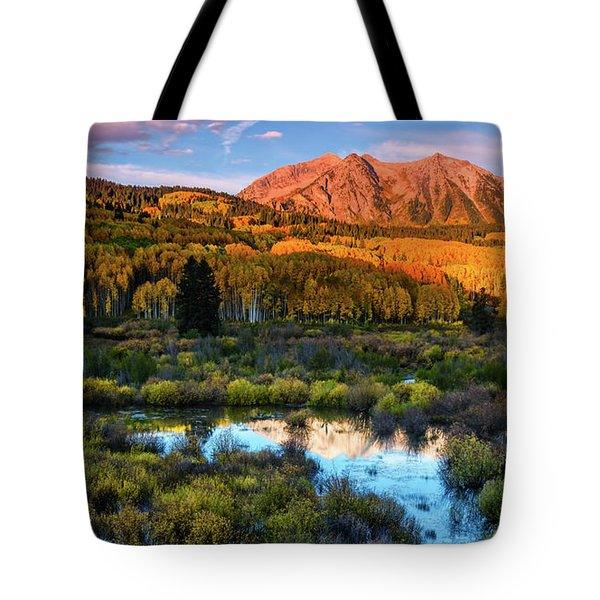 Tote Bag featuring the photograph A Beckwith Morning by John De Bord