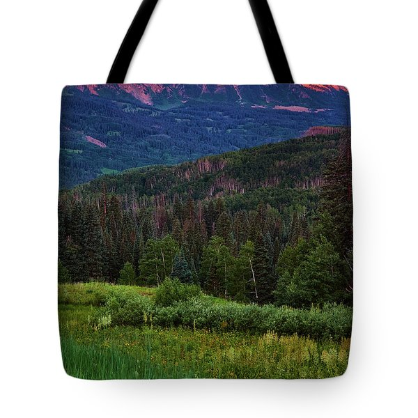 Tote Bag featuring the photograph A Beckwith Sunrise by John De Bord