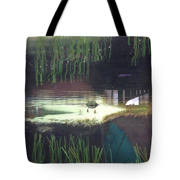 Below Water Bird Butt Tote Bag