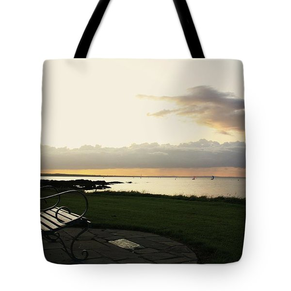 A Bench For Percy Tote Bag by Martina Fagan