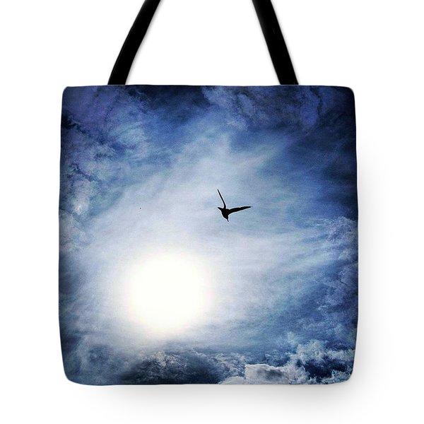 A Bird In Flight Hornsea Tote Bag