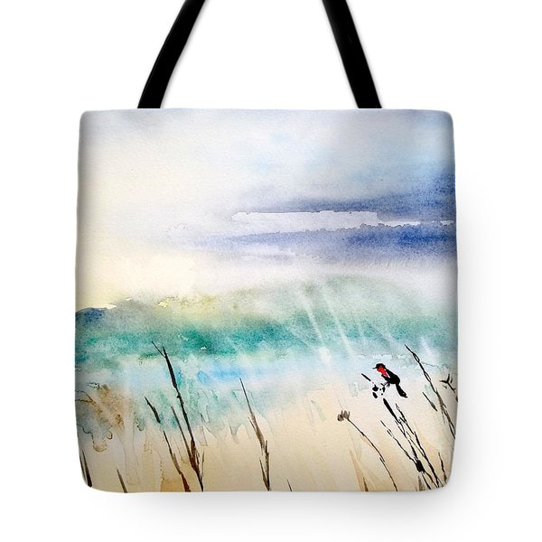 A Bird In Swamp Tote Bag