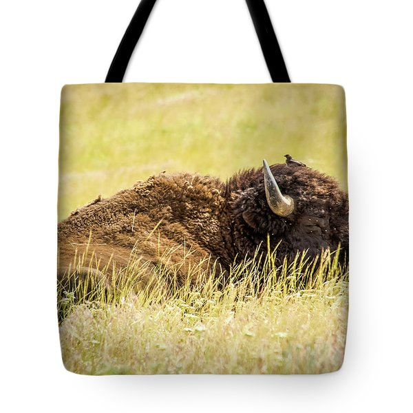 A Bird On The Head... Tote Bag