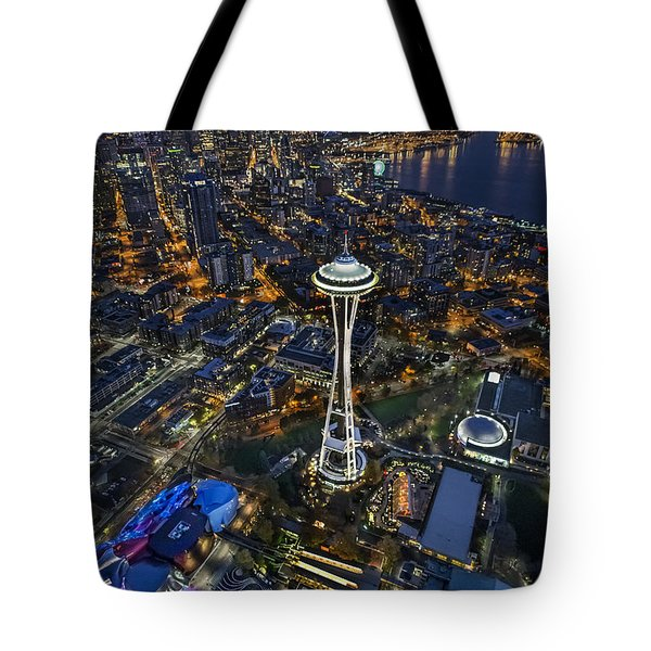 A Birds-eye View Of Seattle Tote Bag