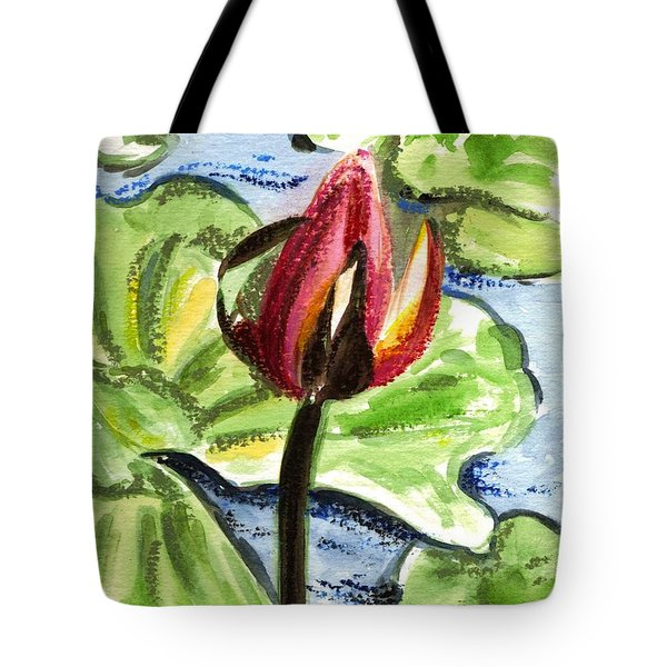 Tote Bag featuring the painting A Birth Of A Life by Harsh Malik