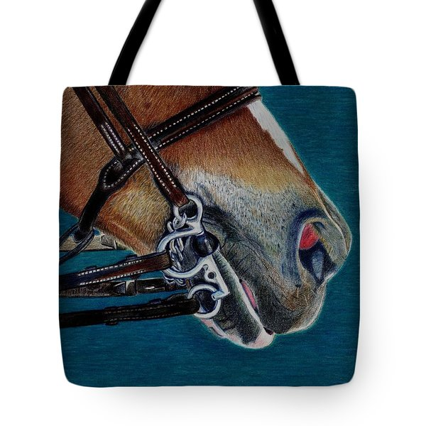 A Bit Of Control - Horse Bridle Painting Tote Bag