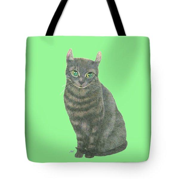 A Black Cat Tote Bag by Jingfen Hwu