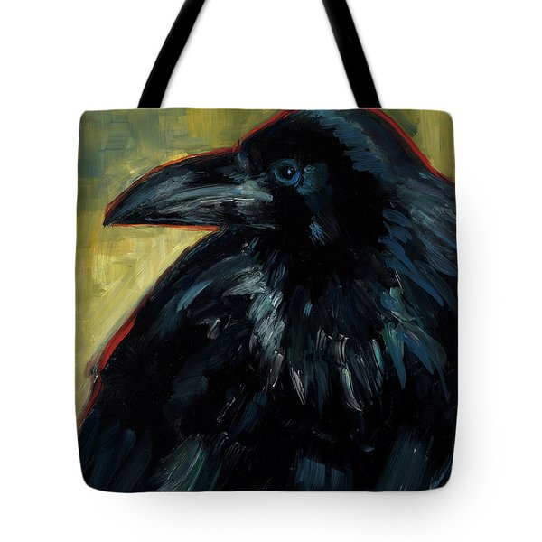 Tote Bag featuring the painting A Black Tie Affair by Billie Colson
