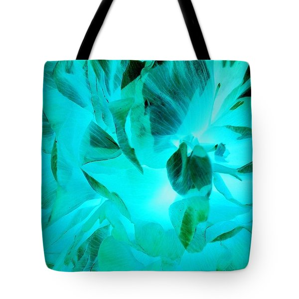 A Bloom In Turquoise Tote Bag
