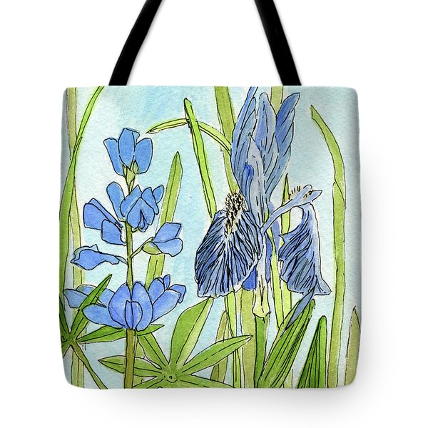 A Blue Garden Tote Bag