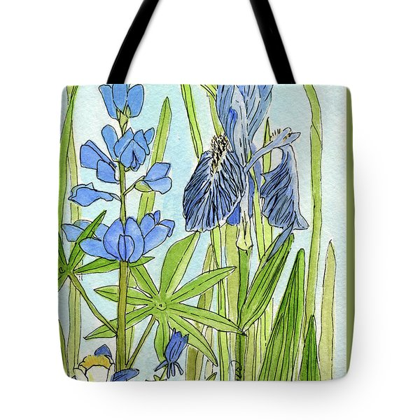 A Blue Garden Tote Bag by Laurie Rohner