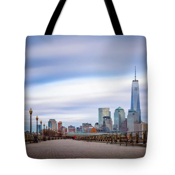 A Boardwalk In The City Tote Bag by Eduard Moldoveanu