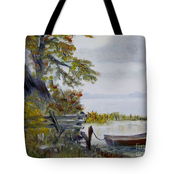 A Boat Waiting Tote Bag