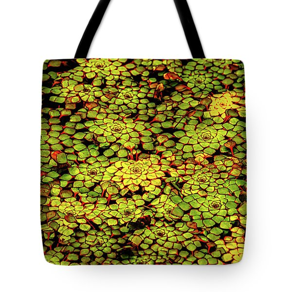 A Botanical Mosaic Tote Bag
