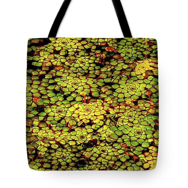 A Botanical Mosaic Tote Bag