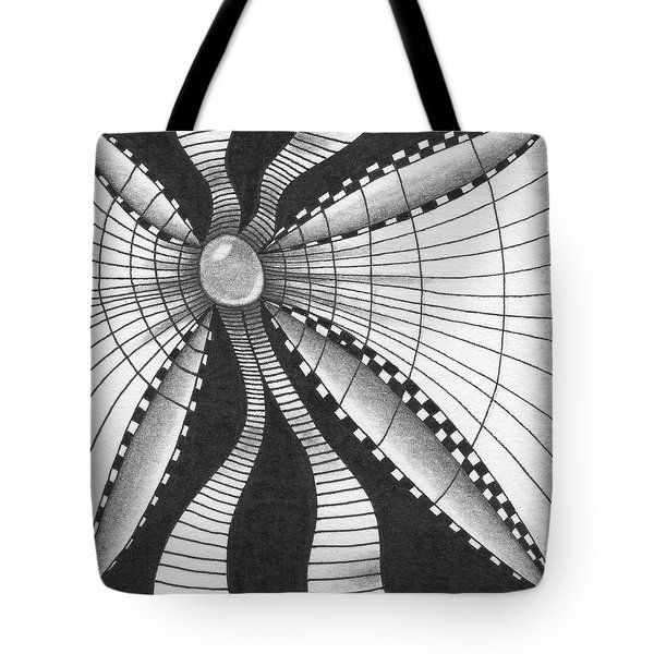 Tote Bag featuring the drawing A Bow Of Boze by Jan Steinle