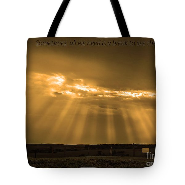 A Break Tote Bag