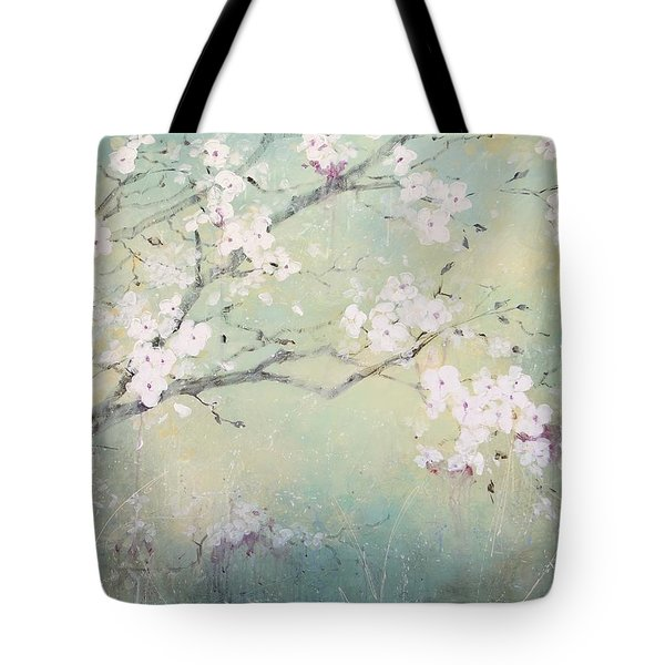 Tote Bag featuring the painting A Breath Of Spring by Laura Lee Zanghetti