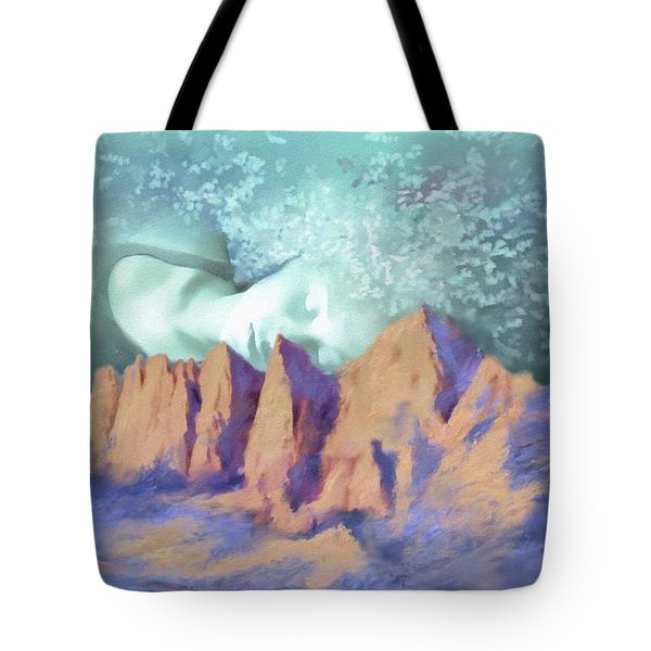Tote Bag featuring the painting A Breath Of Tranquility by S G