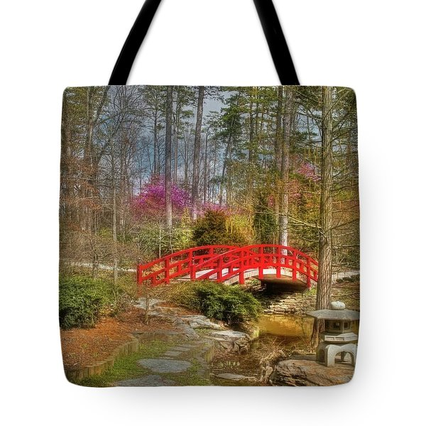 A Bridge To Spring Tote Bag by Benanne Stiens