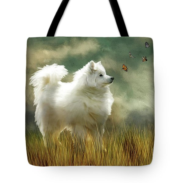 Tote Bag featuring the digital art A Brief Encounter by Lois Bryan