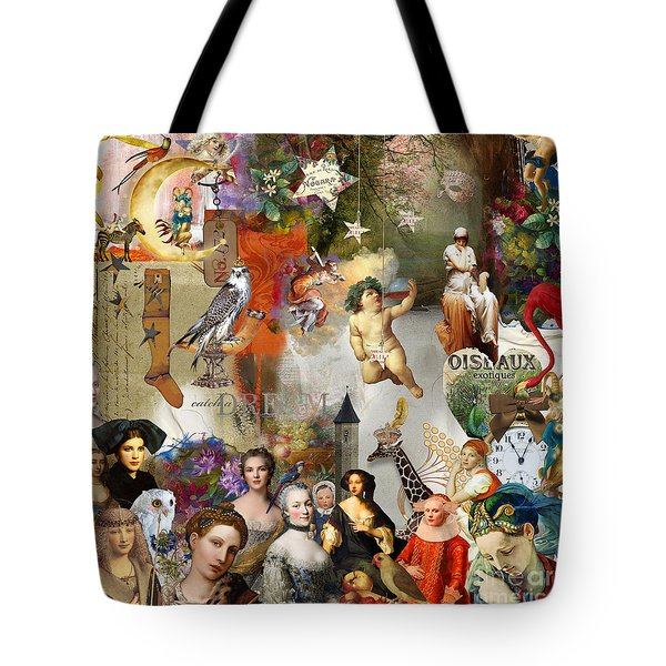 Tote Bag featuring the digital art A Brief History Of Women And Dreams by Nola Lee Kelsey