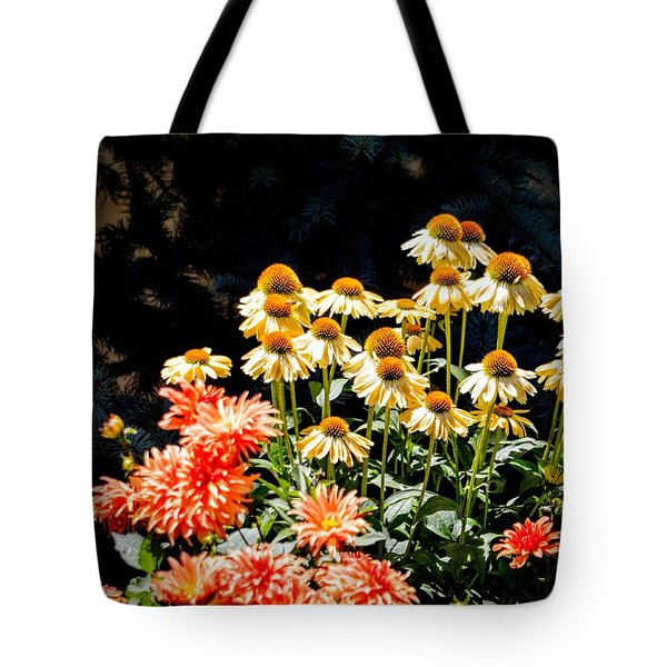 A Bright Flower Patch Tote Bag