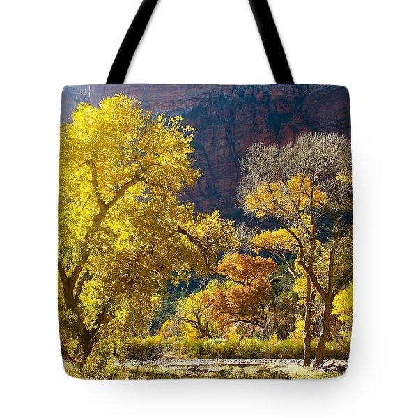 A Bright Gathering Of Trees Tote Bag