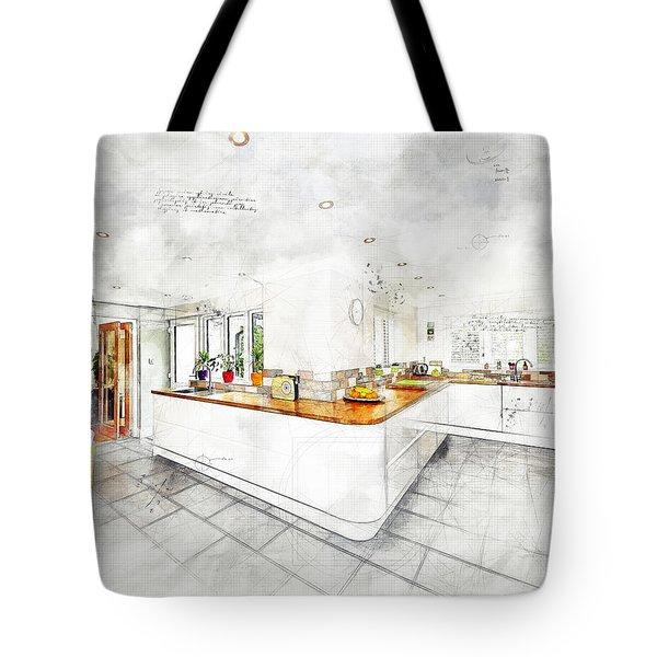 A Bright White Kitchen Tote Bag