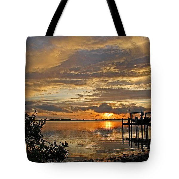 A Brooding Sunset Sky Tote Bag by HH Photography of Florida