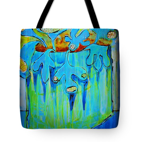 A Bucket Of Flowers Tote Bag by DAKRI Sinclair