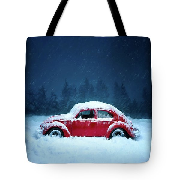 A Bug In The Snow Tote Bag
