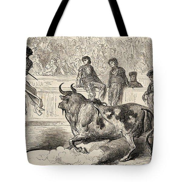 A Bullfighter Stood On Stilts Tote Bag