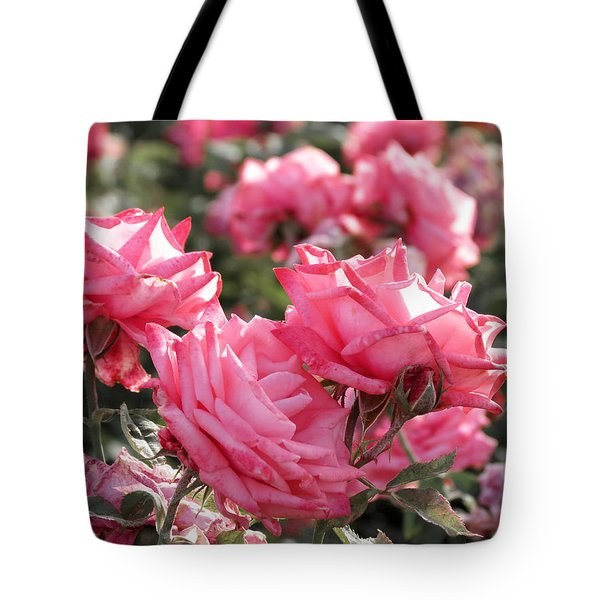Tote Bag featuring the photograph A Bunch Of Pink by Laurel Powell