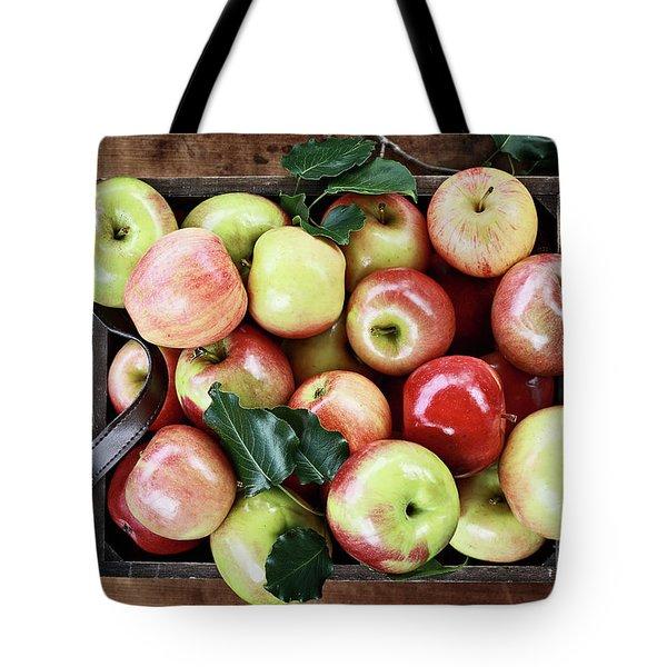 Tote Bag featuring the photograph A Bushel Of Apples  by Stephanie Frey