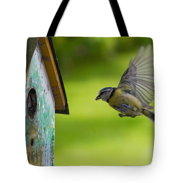 A Busy Blue Tit Mum Tote Bag