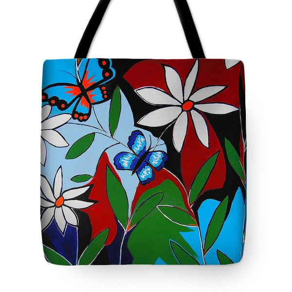 Tote Bag featuring the painting A Butterflies Paradise by Kathleen Sartoris