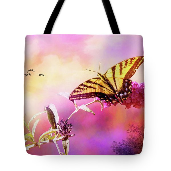 A Butterfly Good Morning Tote Bag