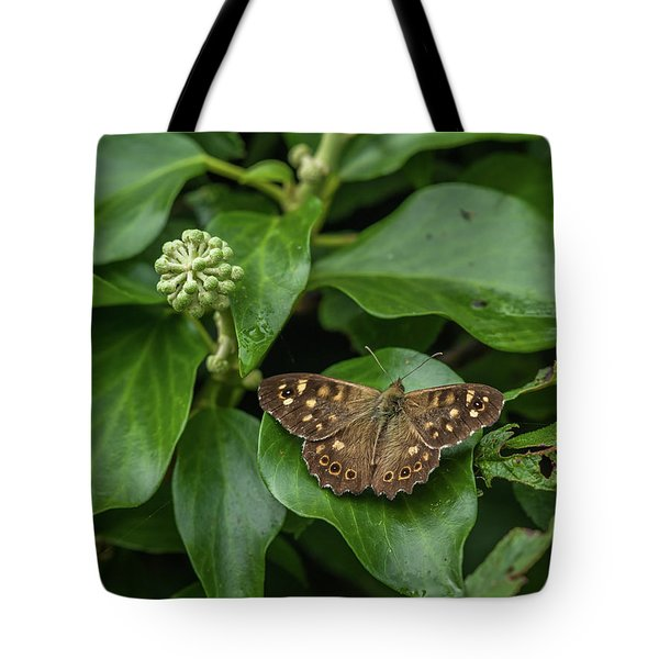 A Butterfly Sitting On An Ivy Leaf Tote Bag
