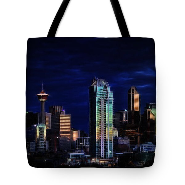 Tote Bag featuring the photograph A Calgary Sunrise by Brad Allen Fine Art