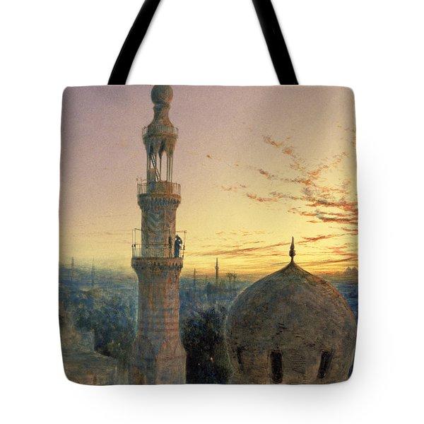 A Call To Prayer Tote Bag