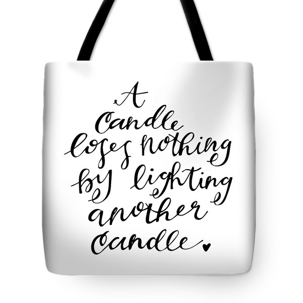 A Candle Tote Bag