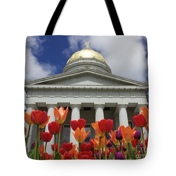 A Capitol Day Tote Bag by Alice Mainville