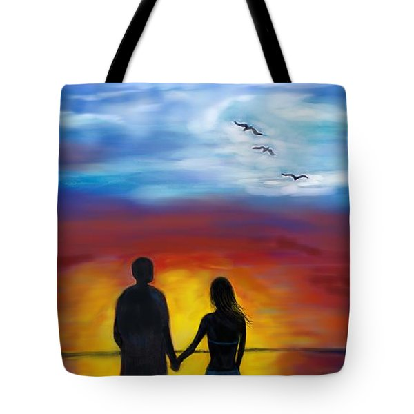 Tote Bag featuring the painting A Captivating Love by Leslie Allen